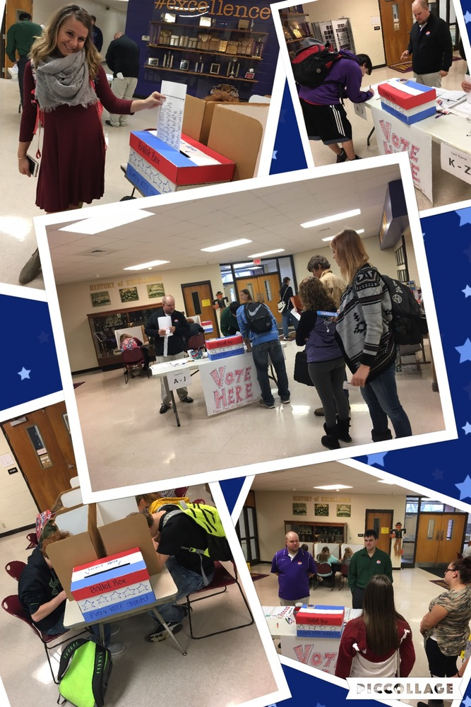 Slater JH/HS Mock Election Results